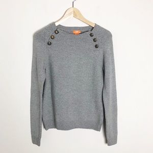 Joe Fresh | Gray Sweater with Button Shoulders